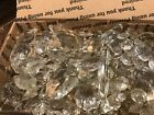 Antique Vintage Lot Glass Crystals Prisms Teardrops Chandelier Flat Rate Box
