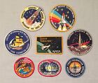 NASA PATCHES LOT of 8 Space Program  Shuttle STS Mission Hubble Telescope ++