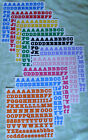 Creative Memories ABC 123 Bold Style Matte Finish Stickers You Choose