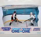 "1997 SL NHL FREEZE FRAME ONE ON ONE ""FLYERS LINDROS & MIGHTY DUCKS KARIYA"" IOB"