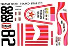 #82 JANET GUTHRIE TEXACO STAR 1980 1/24th - 1/25th Scale Waterslide Decals