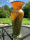 Antique Lundberg Studios vase iridescent art glass signed 1999