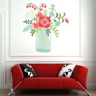 Floral Vase Pink Flowers Wall Decal Sticker WS 46837