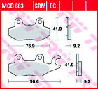 TRW Std Organic All Round Front Brake Pads MCB663 Kymco Hipster 125 4V 2002