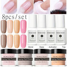 8pcs/set NICOLE DIARY Dipping Powder System Liquid Brush Nail Polish Starter Kit