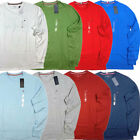 NWT Tommy Hilfiger Mens T shirt Long Sleeve Crew Neck Tee Flag Logo Casual New
