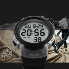 US Men's Military Large Face LED Digital Watches Sports Waterproof Quartz Watch