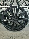 Set of Four 22 Staggered Turbine Style Gloss Black Wheels For Tesla X 5x120