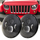 Dot CREE 7 Round LED Headlights Hi Low Beam For 97 2018 Jeep Wrangler JK TJ CJ