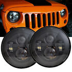 2X 7 Round Osram LED Headlight Hi Lo Beam Lamp for 97 17 JEEP Wrangler JK TJ CJ