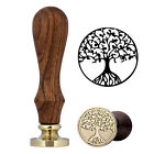 Wax Seal Tree of Life Sealing Stamp Wodden Handle Birthday Wedding Blessing Gift