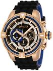 Invicta 29080 Bolt Men's 49mm Chronograph Rose Gold-Tone Black Dial Watch