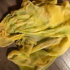 Hand Dyed silk Fabric silk chiffon  36 x 50 inches  hand dyed