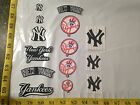 14 pc New York Yankees MBL Fabric Applique Iron On Ons Set 2
