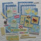 Premade Pages Mat Set Scrapbooking Kit Lot Spring Time Rain Paper Pieces pack890