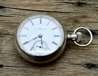 Antique 1890s Columbus Watch Co Pocket Watch 10k Elk Inlay RARE