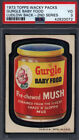 1973 Topps Wacky Packs 2nd Series Gurgle Baby Food Ludlow Back PSA 3 *698421