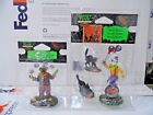 Lemax Halloween Spooky Town Collection Lot of 2 Evil Clown Juggler 02776 02765