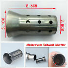 51mm Motorcycle Exhaust Muffler Can Insert Baffle DB Killer Removable Silencer