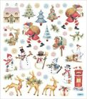 Scrapbooking Crafts Stickers Old Fashioned Christmas Santa Cottage Snowman Deer