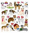 Scrapbooking Crafts Stickers Dogs  Hearts Paw Prints Tie Glasses Bone House Bow