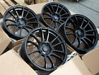 18x95 +38 Avid1 AV20 5x1143 +38 Black Wheels Aggressive Fits Wrx Civic Accord