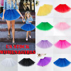 US Women Girl Princess Tulle Tutu Skirt Adult Kid Ballet Dance Party MiniDressO
