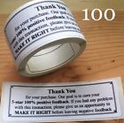 100 Thank You For Your Purchase ENVELOPE PACKAGE SEALS LABELS STICKERS