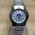 Stunning AR Logo Mens Silver Tone Steel Analog Quartz Watch Hours~New Battery