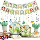 192 Pc Dinosaur Party Supplies Pack Serves 20 Decorations Favors Thick
