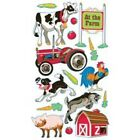 Scrapbooking Stickers Sticko At Farm Animals Barn Tractor Cow Rooster Dog Goat