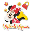 Scrapbooking Stickers Disney Minnie Mouse Title Red Polka Dot Dress Yellow Shoes