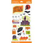 Scrapbooking Stickers Sticko Halloween Haunted House Witch Moon Bats Spooky Cat
