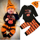My First Halloween Newborn Baby Boy Girl Rompers Jumpsuit Pants Clothes Outfits