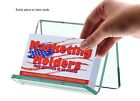 Business Card Gift Card Green Edge Glass Single Pocket Display Holder Qty 24