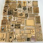 HUGE RUBBER STAMPS LOT 68 New Top Quality Garden People Borders Animals Summer