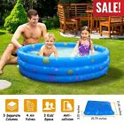48 90 Foldable Inflatable Swimming Pool Blow Up Family Pool for Backyard Party