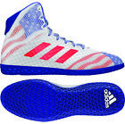 Adidas 2019 Mat Wizard Hype White Royal Red USA Red White Blue Wrestling Shoes
