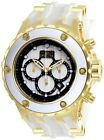 Invicta 27915 Specialty Mens Chronograph 52mm Gold Tone Steel White Wood Dial