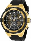 Invicta 28100 Aviator Men's Chronograph 50.5mm Gold-Tone Black Dial Watch