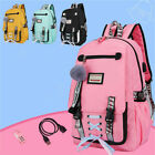 Womens Large School Bags For Teenage Girls Usb With Lock Anti Theft Backpack US