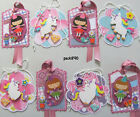 Handmade Gift Tags 8 SEWN Fairy Unicorn Flowers Scrapbook Paper Piecing pack890