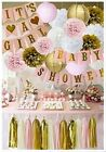 Baby Shower Decorations for Girl Pink and Gold Banner Its a Girl 70+ PCS Paper