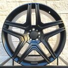 22 Mercedes Benz Wheels Rims G Class G Wagon G500 G550 G55 W463 Satin Black G63