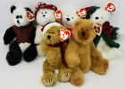Ty Beanie Baby 6 Piece Bears Jangle Cody Klause Amore North Checkers 6031