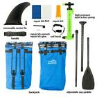 11 Adult Inflatable SUP Stand Up Paddle Board Blue and Gray and Black