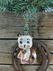 Vintage Anthropomorphic Brown Bear Salt or Pepper Shaker Christmas Tree Ornament