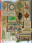 New and Used Rubber Stamp Assortment Lot of 20 Flower and Garden rubber stamps