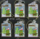 Handmade Christmas Holiday Gift Tags 6 SEWN Camo Duck Collage Paper Piecing