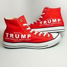 NIB TRUMP MAGA Converse Chuck Taylor All Star High Top Red White Sneakers Unisex